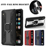 Shockproof Armor Ring Holder Stand Rugged Rubber Hybrid Hard PC Phone Case Cover
