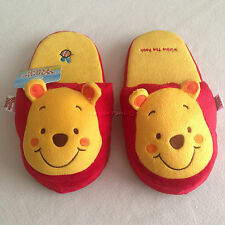 DISNEY WINNIE THE POOH POOH Plush Slippers Shoes Size UK 3-7, EU 34-40, US 5-9
