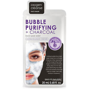 Skin Republic 20ml Bubble Purifying + Activated Charcoal Face Sheet Mask
