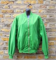 Hugo Boss Mens Andy Warhol Collection Pastel Green Bomber Jacket Size Large 48 R