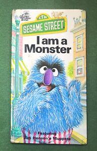 Sesame Street I am a Monster PBS CTW 1976 muppets Henson Golden Books