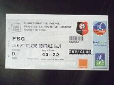 Tickets- 2005/06 Football Championship of France- RENNES VS. PSG, 3 May 2006