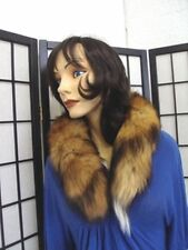 """NEW CANADIAN RED FOX FUR TAILS BOA SCARF WRAP SIZE SMALL 31"""" LONG"""