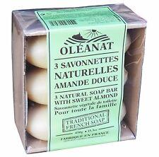 Oleanat Aceite de Almendra Dulce Natural Jabón 3x150g 100% vegetal basado en Free UK Post