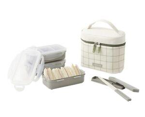 Lock & Lock Lunch Box Set 3 layers Airtight food Container +Bag +Chopsticks