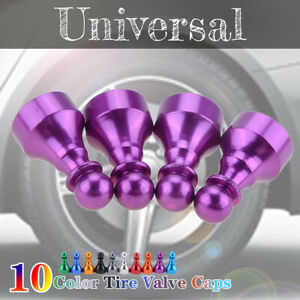 4x Car Tire Tyre Purple Wheel Air Port Dust Cover Ventil Valve Stem Caps Chess