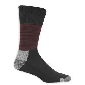 Dr. Scholl's Advanced Relief Men's Crew Socks Blk/Gry 2-PR New XL 13-15 Fashion