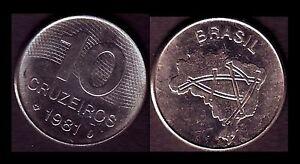 ★★ BRESIL ● 10 CRUZEIROS 1981 ● E5 ★★