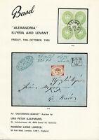 """Alexandria"" Illyria & Levant, Oct. 10, 1969, Auction Cat., P. Kaufmann, R. Lowe"