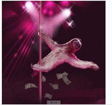 sloth-pole dancing-Fabric Bathroom Shower Curtain Liner-waterproof-180*180cm-