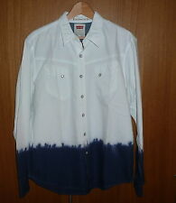"BNWT , SUPER COOL LEVI`S TWO TONE "" INK DIP "" SHIRT , MANS LARGE , NEW WITH TAGS"