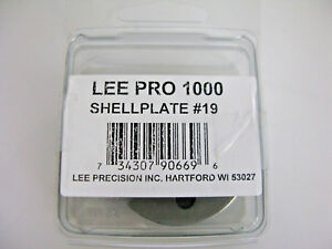 Lee 90669 Pro 1000 Press Shell Plate #19 for 9mm Luger, 40 S&W, 10mm,38 Super