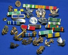 Vietnam War Navy Chief & Officer Insignia & Ribbon Bars Large Group Lot of 31