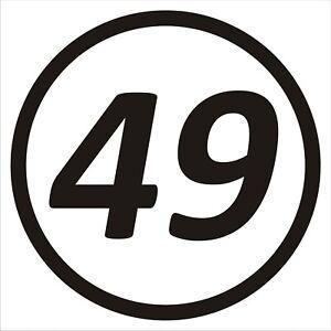3 x CUSTOM RACE NUMBERS - 150mm x 150mm - Stickers - Decals - Motocross