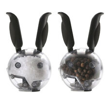 Chef'n Mini Magnetic Salt & Pepper Grinder Set Black Rabbit Ears Refillable
