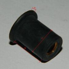 50 Stk. Gummimutter M3 Neopren / Messinggewindeeinsatz  für Verkleidung
