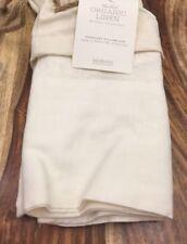 Restoration Hardware Washed Organic Linen Standard Pillowcase (1) Ivory NEW $34