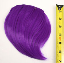 7'' Short Clip on Bangs Indigo Purple Cosplay Wig Hair Extension Accessory NEW