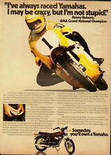 1973 Vintage ad for YAMAHA`Kenny Roberts, AMA Grand National Champion