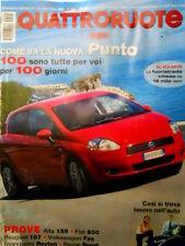 Quattroruote 599 2005 Come va la nuova Punto. Prove Alfa 129, Fiat 600 [Q85]