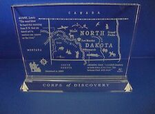 Lead Crystal Lewis and Clark Expedition Map of North Dakota