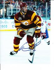 CALGARY FLAMES CORY SARICH SIGNED RED JERSEY 8X10