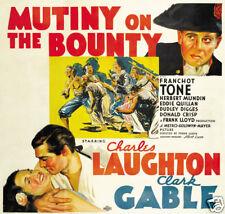 Mutiny on the Bounty Clark Gable vintage movie poster