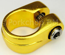 "Old school Suntour style BMX bicycle seat clamp 25.4mm (1"") - GOLD ANODIZED"