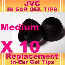 10 JVC In Ear Buds HeadPhones Headset Earphones Gel Tips Medium