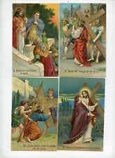 Série complète 14 CPA . Le chemin de Croix de Jésus . Set of 14 Postcards.