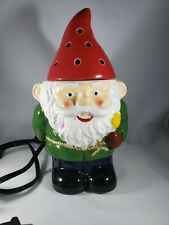 Scentsy Garden Gnome Warmer-SOLD OUT/RARE-Used Missing Warmer Plate Original Box