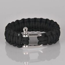 Camping Mens Outdoor Cord Rope Nautical Sailing Bracelet BLACK