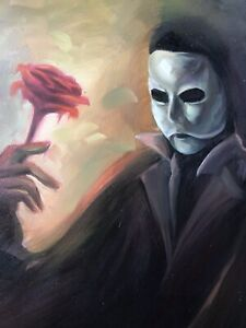 Phantom of the Opera 40x16in  painting on canvas. Andrew Lloyd Weber  theatre