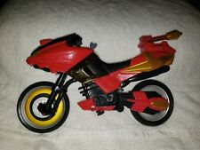 Bandai Might Morphin Power Rangers Motorcycle Bike Red & Gold 2002