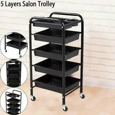 5 Layer Salon Hairdresser Barber Spa Beauty Storage Trolley Hair Roller Cart UK