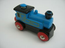 Motorised Battery Train Engine for Wooden Track Blue ( Brio Thomas  )