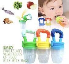 3 Pack Baby Toddler Silicon Pacifiers Food Feeder Teething Soother Teether
