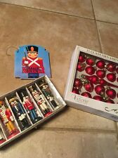 Vintage LOT of 3 Christmas Ornaments