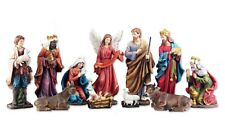 Holy Family Christmas Nativity Scene Colored Life 8 Inch 11-Piece Set
