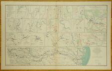 AUTHENTIC CIVIL WAR MAP ~ ATLANTA ~ CHICKAMAUGA ~ SAVANNAH GA. CAMPAIGN -1863-64