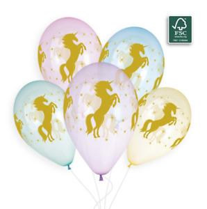 "Golden Unicorn Crystal 12"" Latex Balloons - Packs of 10, 25 or 50."