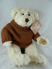 """Russ Byron Brown Knit Sweater Teddy Bear fully jointed plush 13"""" Mint with Tag"""