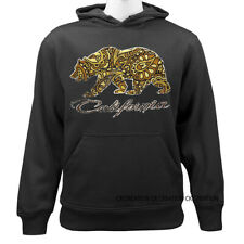 California Republic Paisley California Bear Casual Graphic Pullover Hoodie