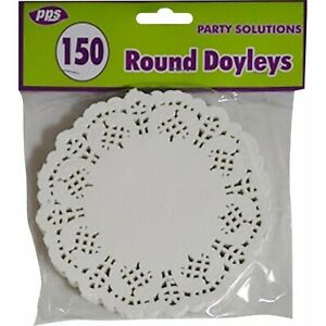 125 Assorted Paper Party Doilies Doily Lace Doyleys Catering Wedding Round 12cm