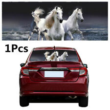 Car Accessories Truck Rear Windshield  White Horse Tint Decal Sticker 53x14in