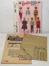 Original 1964 Barbie pattern, McCall's 7431, uncut