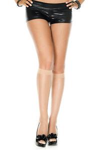 new NWT sexy MUSIC LEGS spandex KNEE highs STOCKINGS nylons sheer SOCKS hosiery