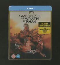 STAR TREK II : THE WRATH OF KHAN - UK EXCLUSIVE BLU RAY STEELBOOK - NEW & SEALED
