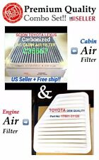 For CAMRY Rav4 Vibe ES350 xB tC Engine & Carbonized Cabin Air Filter A5650 35667