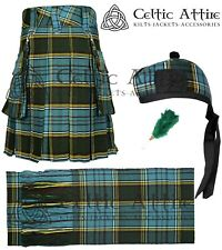 Kilt Tam o Shanter Hat Sash Ladies Scottish Kilted Skirt Package